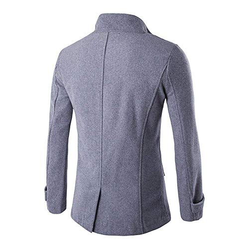 Jacket Coat Huixin Winter Coat Breasted Woolen Outerwear Jackets Apparel Personalized Men's Grau Double Thick qrqn78g6