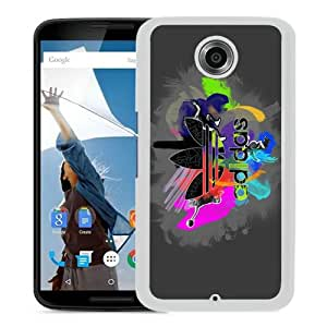 Beautiful And Unique Designed Case For Google Nexus 6 With Adidas 10 White Phone Case