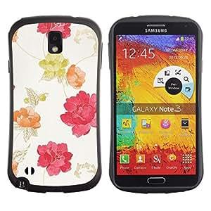 Suave TPU GEL Carcasa Funda Silicona Blando Estuche Caso de protección (para) Samsung Note 3 / CECELL Phone case / / Watercolor Beige Pink Red Yellow /