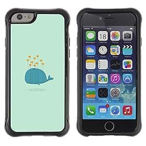 """Pulsar iFace Series Tpu silicona Carcasa Funda Case para Apple iPhone 6+ Plus(5.5 inches) , Avistamiento de corazón Besos azul de la historieta de San Valentín"""""""