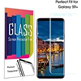 Samsung Galaxy S9+ Plus Screen Protector Tempered Glass Full Coverage 9H Hardness Clear for Samsung S9+[case friendly][Scratch Resistant][Anti-Fingerprint][Bubble Free][Touch Sensitivity]- Transparent