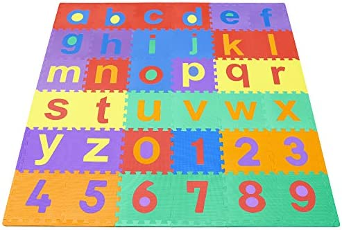 Amazon Com We Sell Mats Lowercase Abc 123 Mat Toys Games