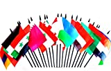 Southwest Asia World Flag SET-20 Polyester 4''x6'' Flags, One Flag for Each Country in Southwest Asia, 4x6 Miniature Desk & Table Flags, Small Mini Stick Flags