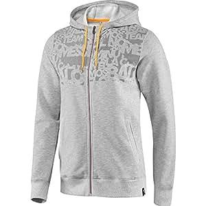 Adidas Men's Messi Full Zip Hoodie - (Medium Grey Heather, Medium)