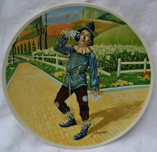 WIZARD OF OZ Scarecrow Knowles Collector plate 1977 James Auckland MGM