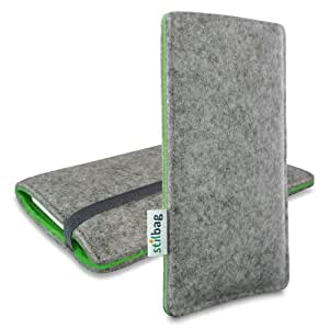 Stilbag Funda de fieltro 'FINN' para Apple iPhone 5 - Color gris/verde