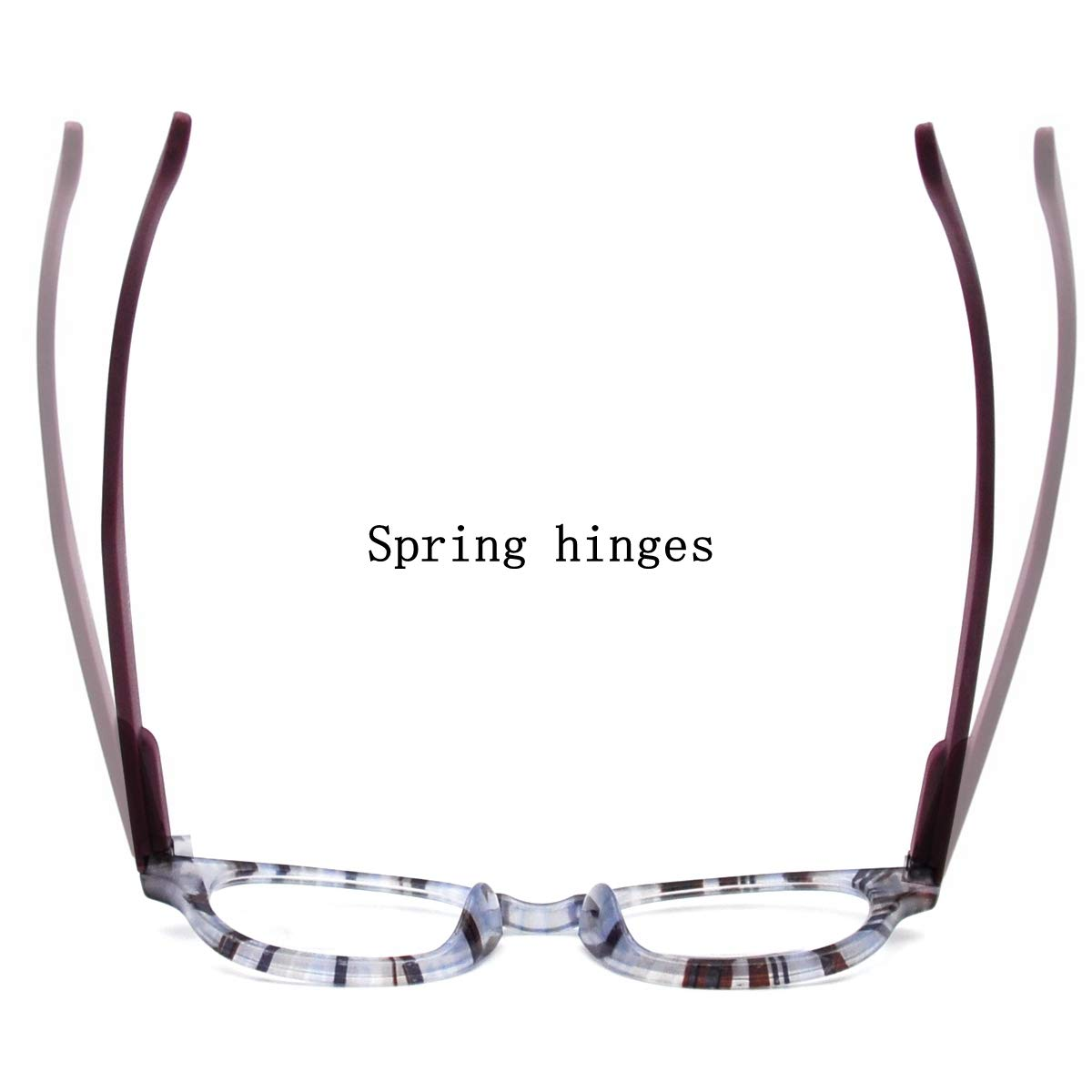 AMILLET 3 Pack Spring Hinges Reading Glasses Rectangle Lightweight Comfortable Readers for Men and Women 1.50