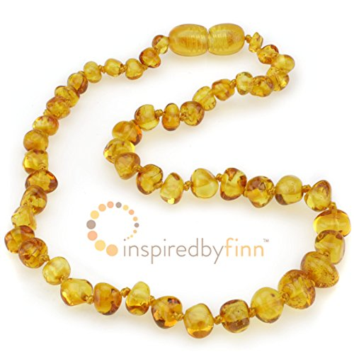 Polished Golden Swirl Amber Necklace (13''-14'') by Inspired by Finn