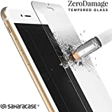 iPhone 7 ZeroDamage Tempered Glass Screen Protector .33m [Smooth Edge] Anti Fingerprint Shatterproof Anti-Scratch Fits iPhone 7 - SaharaCase
