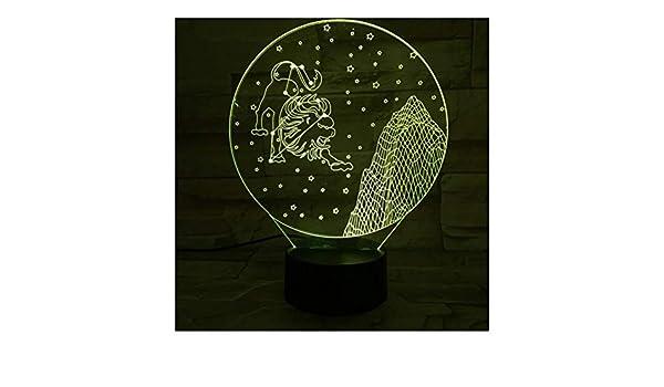 3D Illusion Light Signos Del Zodiaco Occidental Luz Nocturna Led ...