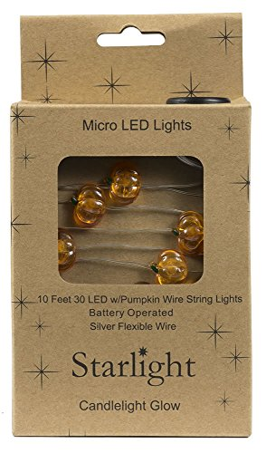 10' Pumpkin Battery Box 30LED Starlights