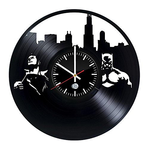 Fun Door BATMAN VS SUPERMAN DC Vinyl Record Wall Clock - Get unique living room wall decor - Gift ideas for boys and girls – Large Cool Unique Modern Art