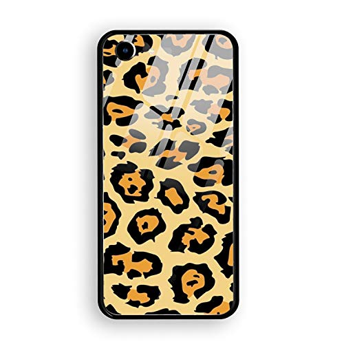 iPhone 7 Case, Tempered Glass Animal Print Chetta Tiger Mirror Bumper Cover Compatible for iPhone 7]()