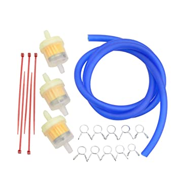 GOOFIT yellow moto Fuel Filter Line Spring Clips Clamps Tube Hose Inner Dia Motorcycle Oil Gasoline Universal Dirt ATV Moped Scooters Pack Pocket bike