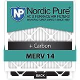 Nordic Pure 20x25x5 Lennox X6675 Replacement MERV 14 Plus Carbon AC Furnace Air Filters, Quantity 4