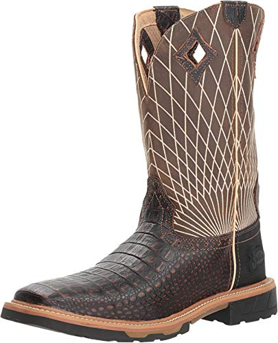 - Justin Work Men Derrickman Croc Square Boot 9.5D