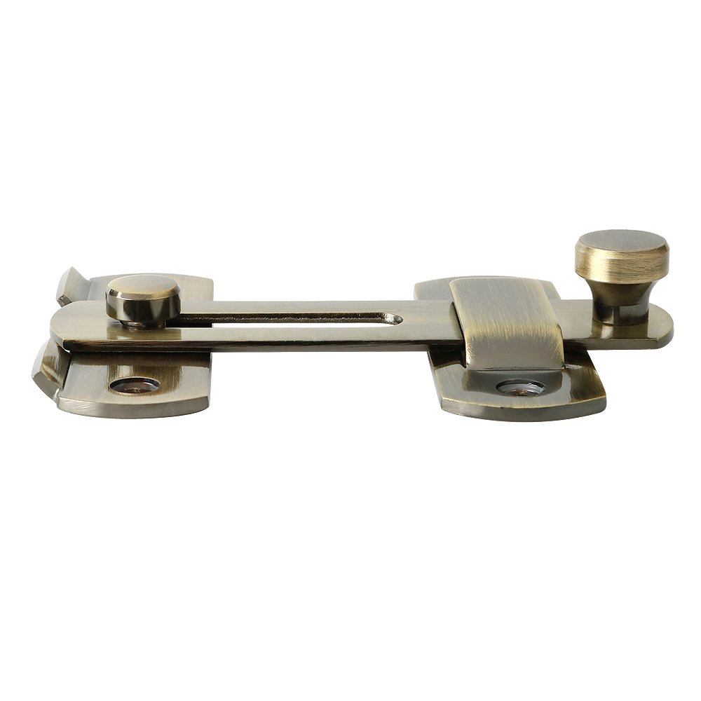 Alise SUS304 Stainless Steel Gate Latches Pet Door Latch Bolt Lock Heavy Duty Flip Latch 2.5mm-Thick,MS9500-Q Bronze