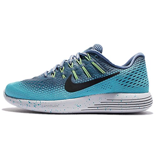 Nike Women's Lunarglide 8 Shield Running Shoe, Ocean Fog/Black-Gamma Blue,...