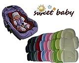 Sweet Baby ** HELLBLAU ** SOFTY MAXI Sitzverkleinerer mit abnehmbarem Kopfteil / NeugeborenenEinsatz mit Sommer- und Winterseite für BabyAutositz Gr. 0/0+ wie z.B. Maxi Cosi, Römer, Kinderwagen, Babywanne, Jogger etc.