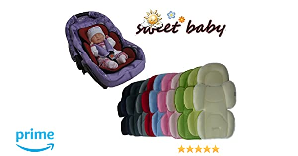 Sweet Baby ** SOFTY MAXI ROJO ** Cojín reductor para silla de bebé / Protector de cuerpo para coche (0-12 meses)