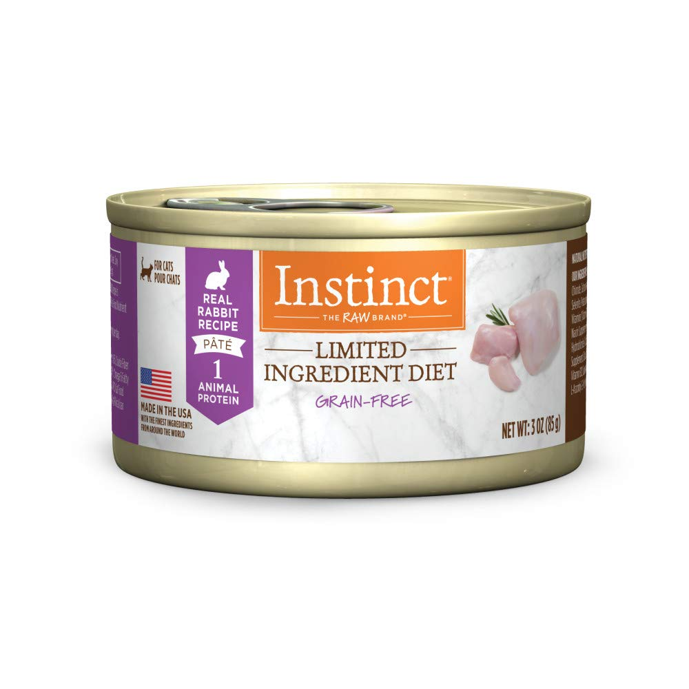 Instinct Limited Ingredient Diet Grain Free Real Rabbit Recipe Natural Wet Canned Cat Food by Nature's Variety, 3 oz. Cans (Case of 24) by Instinct
