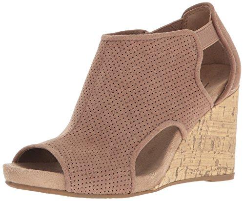 LifeStride Women's Hinx Wedge Sandal, Mushroom, 8 M US