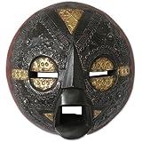 NOVICA Decorative Ghanaian Wood Mask, Black 'Beautiful Soul'