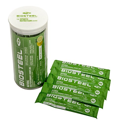 Biosteel High Performance Sports Mix - Enhanced With Electrolytes - Contains Amino Acids And Vitamin B Blend (12 Single Serving Packets) - Lemon Lime by BioSteel