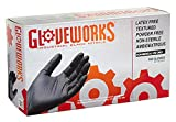 AMMEX - BINPF48100 - Industrial Nitrile Gloves - Gloveworks - Disposable, Powder Free, 5 mil, Extra Large, Black (Case of 1000)
