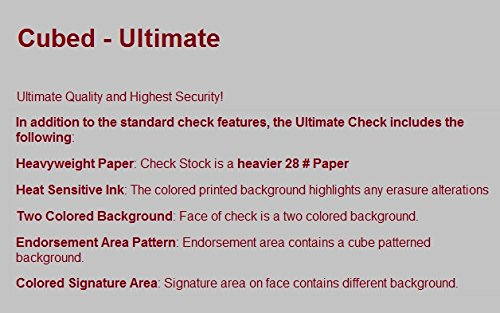 Product Features Top-Format, One-Part Business Checks (No Duplicates) For Laser/Inkjet Printers.