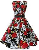 Bridesmay-Womens-Classy-V-Neck-Audrey-Hepburn-1950s-Vintage-Rockabilly-Swing-Dress