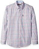 Ben Sherman Men's LS Classic Check Shirt, White S