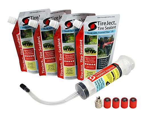 TireJect Tire Sealant Kit - Fix and Prevent Flat Tires (40oz) (Best Place To Fix A Flat Tire)