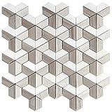 Wallandtile Dimensions 3D Block Mosaic Tile, 12''x12'', Set of 50
