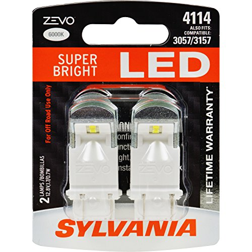 SYLVANIA - 4114 ZEVO LED White Bulb - Bright LED Bulb, Ideal for Daytime Running Lights (DRL) and Back-Up/Reverse Lights (Contains 2 Bulbs)]()