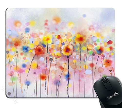 Smooffly Watercolor Flower mouse pads, Flowers in Soft Color