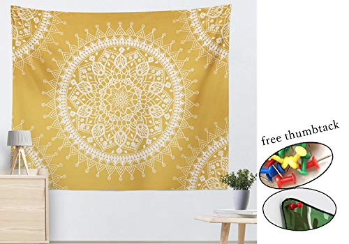 INNICON Wall Hanging Mandala Tapestry Hippie Colored Printed Polyester Rug Thin Yoga Mat Table Cloth India Mandala Tapesrty for Home Decor (Exercise Machine In India)