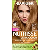 Garnier Nutrisse Ultra Color Nourishing Permanent Hair Color Cream, HL3 Golden Honey (1 Kit) Blonde Hair Dye (Packaging May Vary)