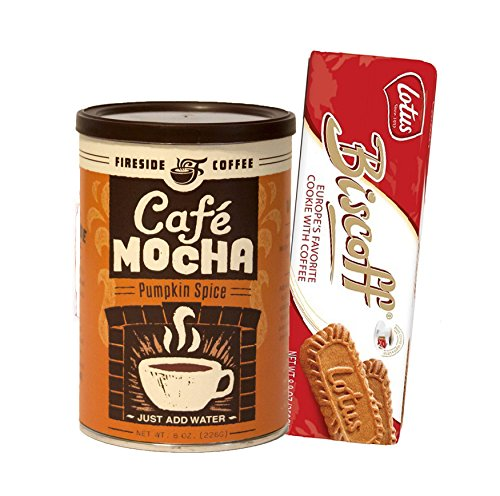Fireside Coffee Cafe Mocha Best Instant Coffee Pumpkin Spice 8 Oz with 1 Pack Lotus Biscoff Cookies 8.8 Oz Gift Pack (Sunrise Coffee Instant compare prices)