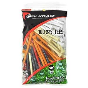 Orlimar 2 3/4-Inch Golf Tees - 100-Pack (Multicolor)