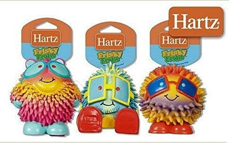 Hartz Frisky Frolic Latex Squeakable Dog Toy – Set of Three