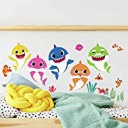 RoomMates - RMK4303SCS Baby Shark Peel And Stick Wall Decals | Kids Room Decor