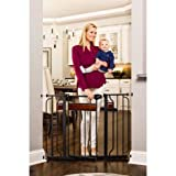 Baby : Regalo Home Accents Extra Wide Baby Gate, Decorative Wood with 2 Included Extension Kits