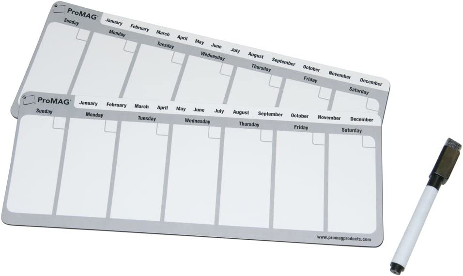 Magnum Magnetics-Corporation ProMAG 4.25 x 11 Inches Weekly Dry Erase Magnetic Calendar (Fоur Расk)