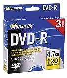 Memorex 4.7GB DVD-R Media (3-Pack)