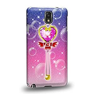 Case88 Premium Designs Art Sailor Moon Crystal Sailor Mini Heart Wand Protective Snap-on Hard Back Case Cover for Samsung Galaxy Note 3