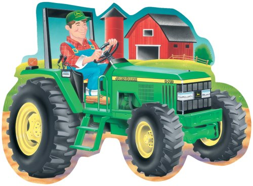 (Great American Puzzle Factory John Deere Tractor Giant Shaped Floor Puzzle)