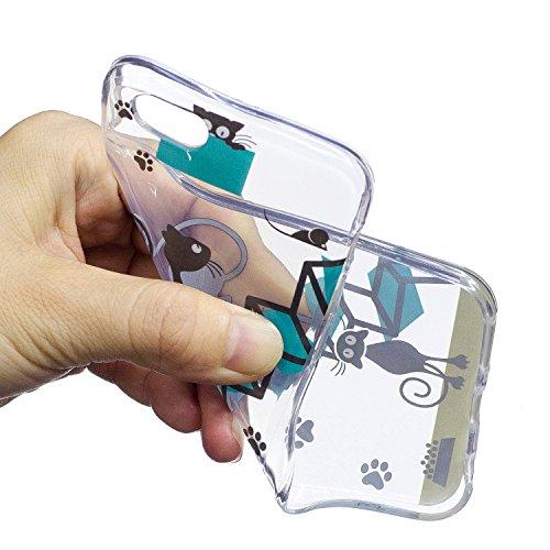 iPhone 6 6S Coque Escaliers sur le chat Premium Gel TPU Souple Silicone Transparent Clair Bumper Protection Housse Arrière Étui Pour Apple iPhone 6 6S + Deux cadeau