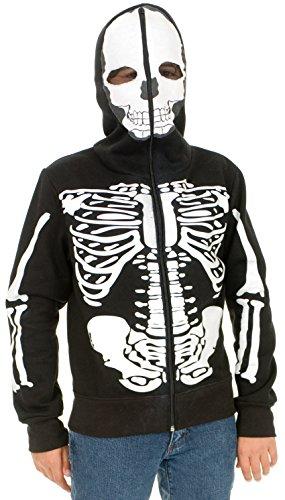 [Boys Skeleton Sweatshirt Hoodie] (Boys Skeleton Sweatshirt Hoodie Costumes)