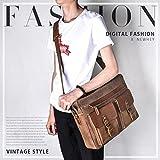 Mens Messenger Bag 15.6 Inch Vintage Genuine